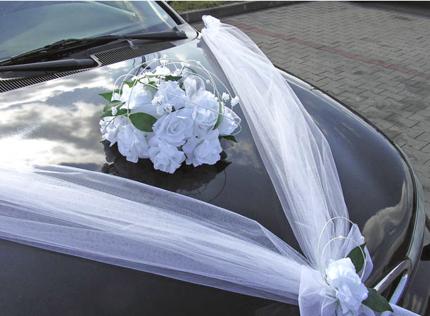 Svatební dekorace na auta