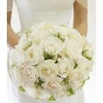Jarní svatební kytice - růže