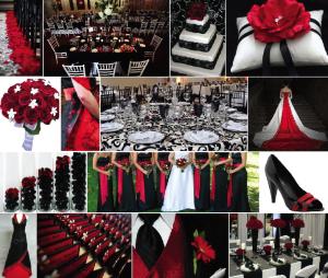 Letní svatba: bílá, černá, červená