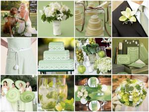 Letní svatba v zelených odstínech