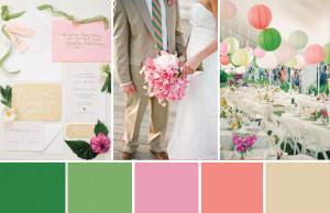 Letní svatba: růžová a zelená