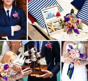 Letní svatba: modrobílá