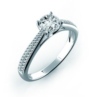 Zásnubní prsteny bílé zlato