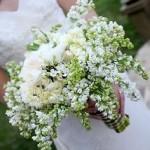 Jarní svatební kytice - šeřík