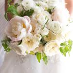 Jarní svatební kytice - pivoňky