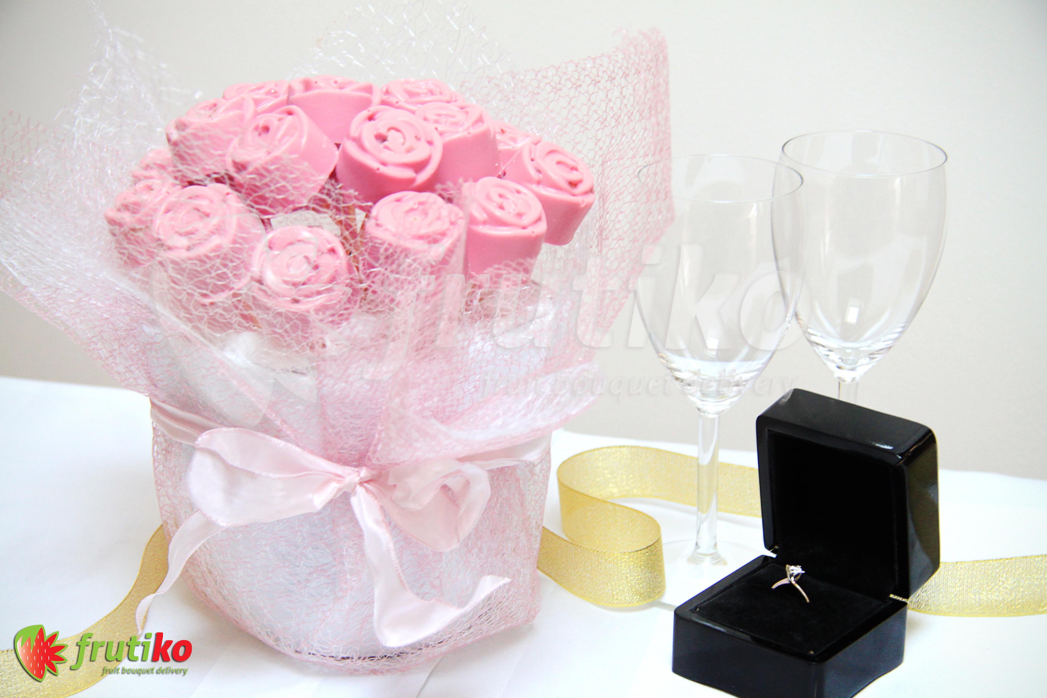 Svatební kytice Frutiko
