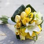 Jarní svatební kytice - tulipány
