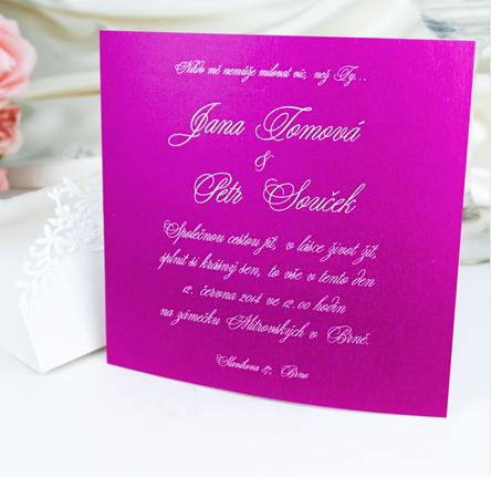 Originální svatební oznámení