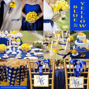 Letní svatba: žlutá a modrá