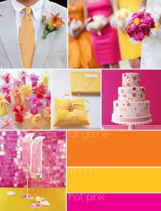 Letní svatba: růžová a žlutá