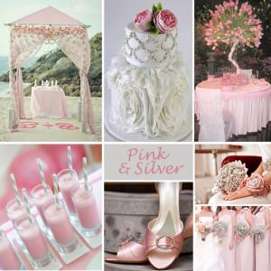 Letní svatba: růžová a šedá